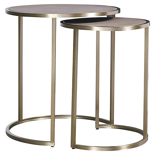 Asst. of 2 Desmond Nesting Side Tables, Gray