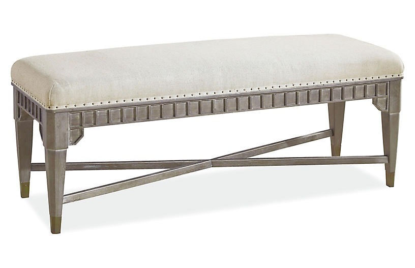 Mackenna Bench, Smoke Gray