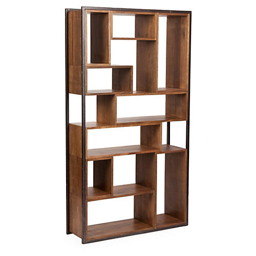 "Bauhaus Open 82"" Bookcase, Walnut"