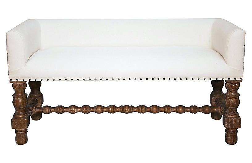 Lagos Bench, White