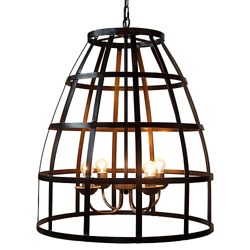 Birdcage 4-Light Pendant, Bronze
