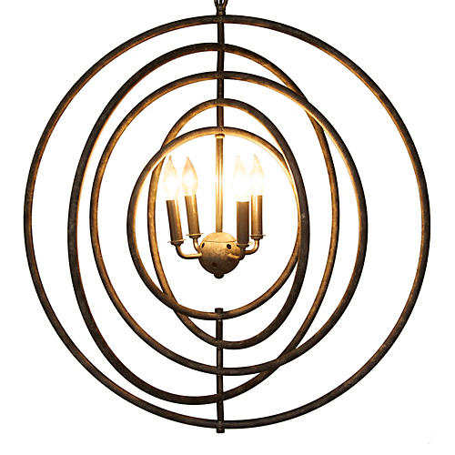 Brooks 4-Light Pendant, Charcoal
