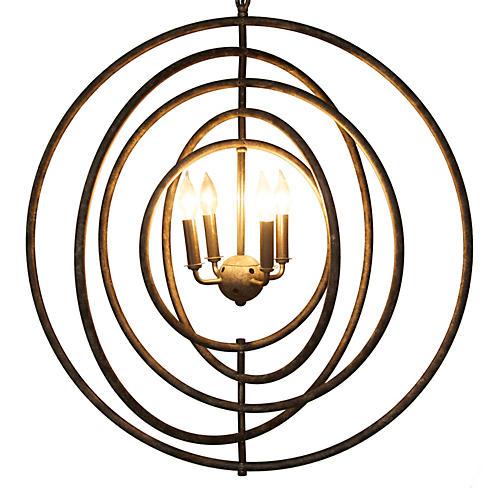 Brooks 4-Light Pendant, Charcoal