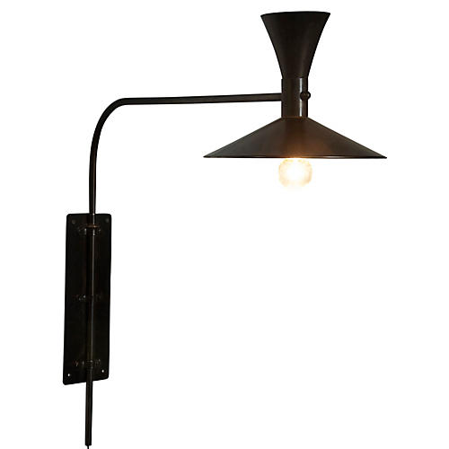 Enzo Plug-In Sconce, Bronze