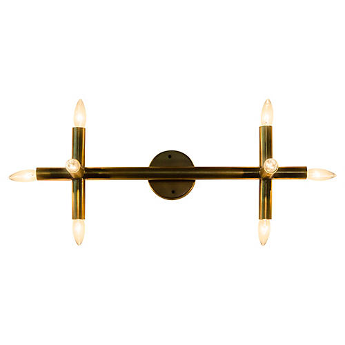 Salome Sconce, Antiqued Brass