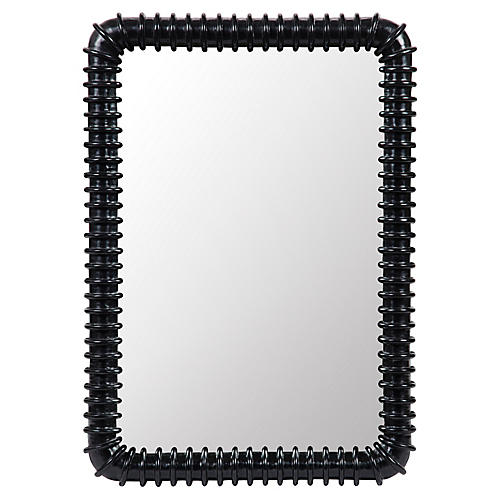 "Toshi 26""x37"" Mirror, Black"