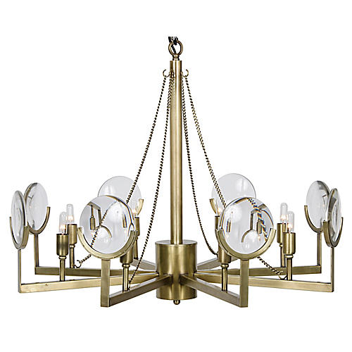 Pia Chandelier, Brass