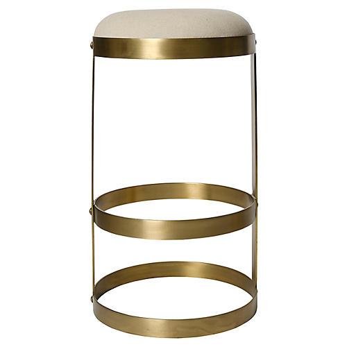 Doré Barstool, Antiqued Brass