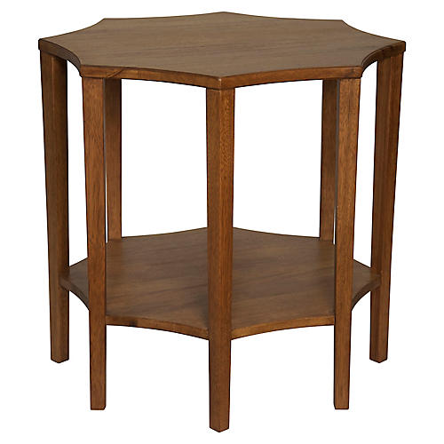 Ariana Side Table, Dark Walnut