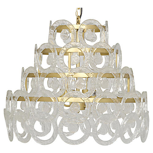 Conley Crystal Chandelier, Brass/Clear