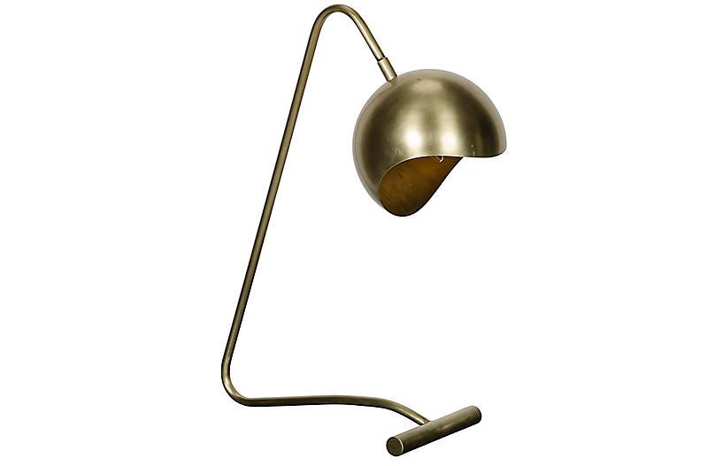 Merla Table Lamp, Antiqued Brass