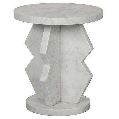 Belasco Side Table, White