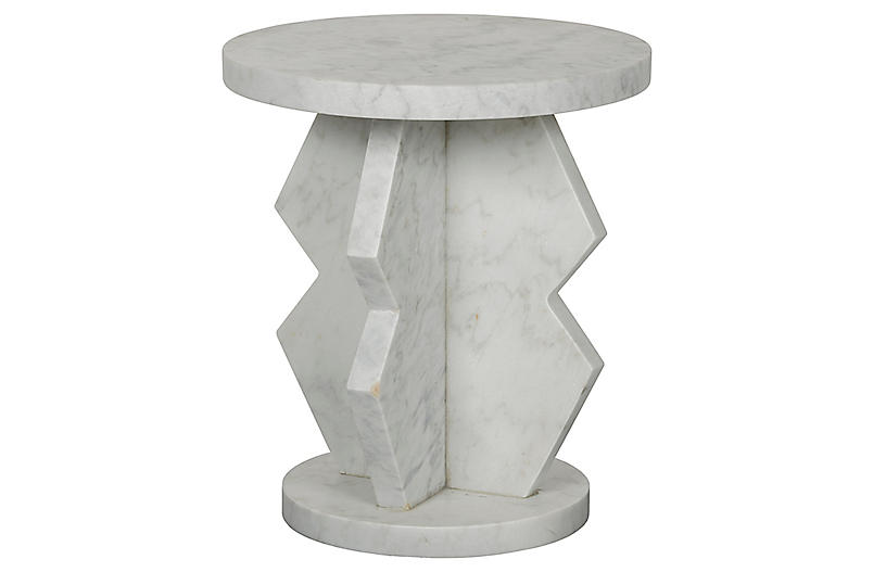 Belasco Side Table, White