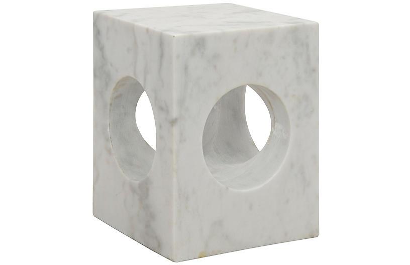 Merlin Side Table, White