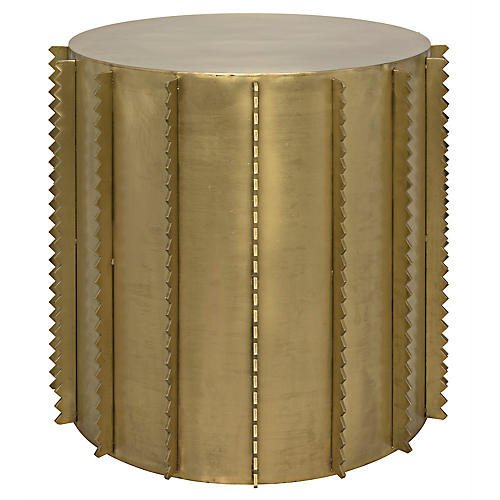 Dita Side Table, Brass