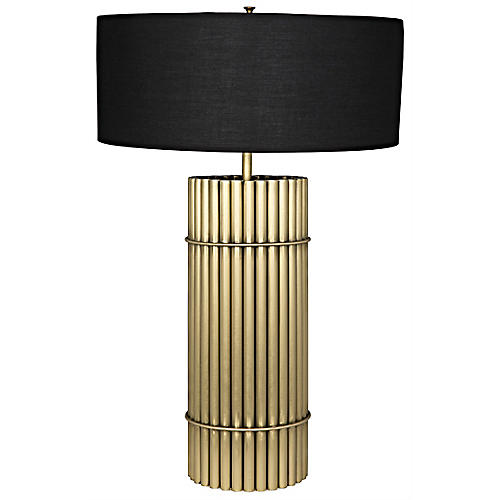 Chloe Table Lamp, Antiqued Brass