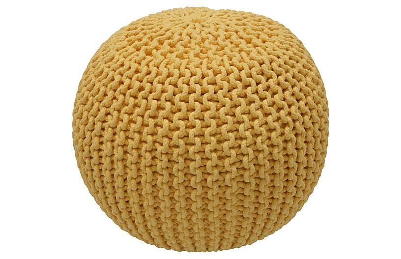 Kelli Knitted Pouf