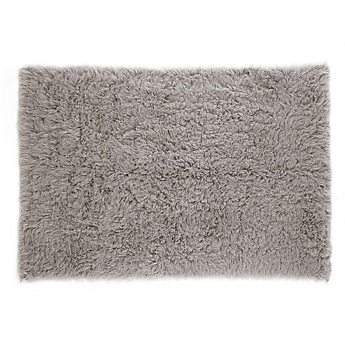 Flokati Shag Rug, Natural Gray