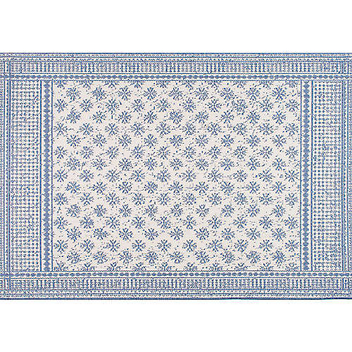 Arverne Outdoor Rug, Blue