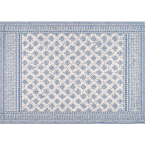 Arverne Outdoor Rug, Blue