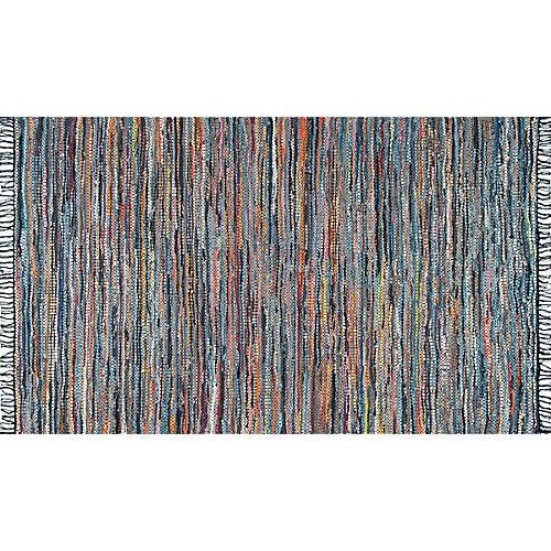 Yanely Flat-Weave Rug, Dark Blue/Multi