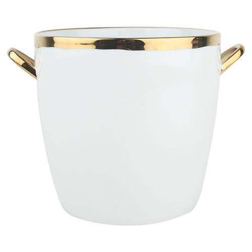 Dauville Ice Bucket, White/Gold