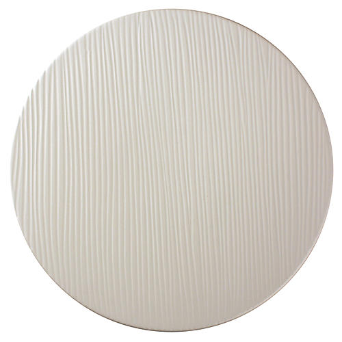 Anabra Stripe Textured Bowl, White
