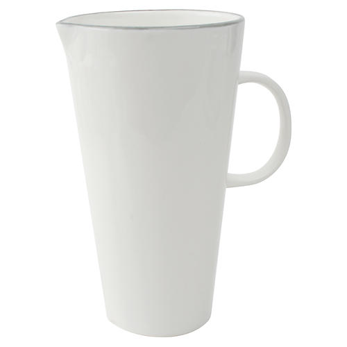 Abbesses Pitcher, Gray Rim