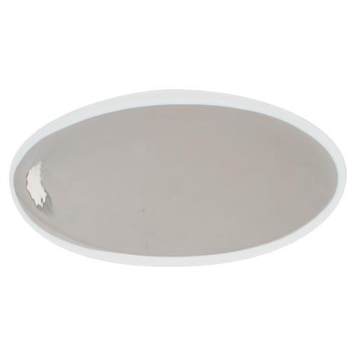 Dauville Oval Platter, Platinum