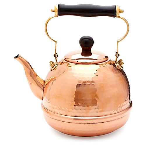 Hammered Copper Teakettle