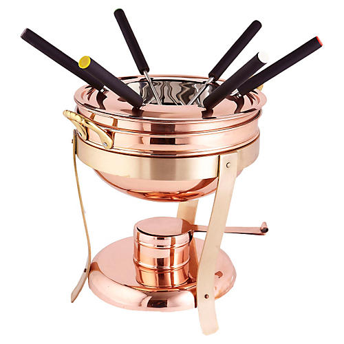 Decor Copper Fondue Set, 2.75 Qt