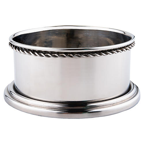 S/2 Stainless-Steel Wine Coasters