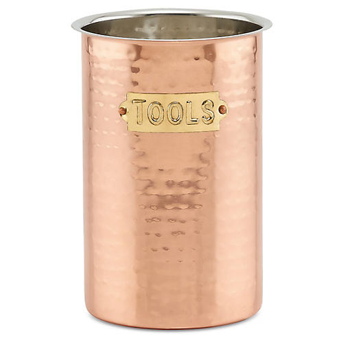 Powis Hammered Tool Caddy, Copper