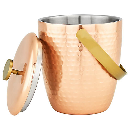 Dover Ice Bucket, Copper/Gold