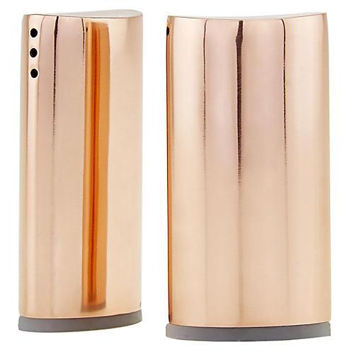 S/2 Essex S & P Shakers, Copper
