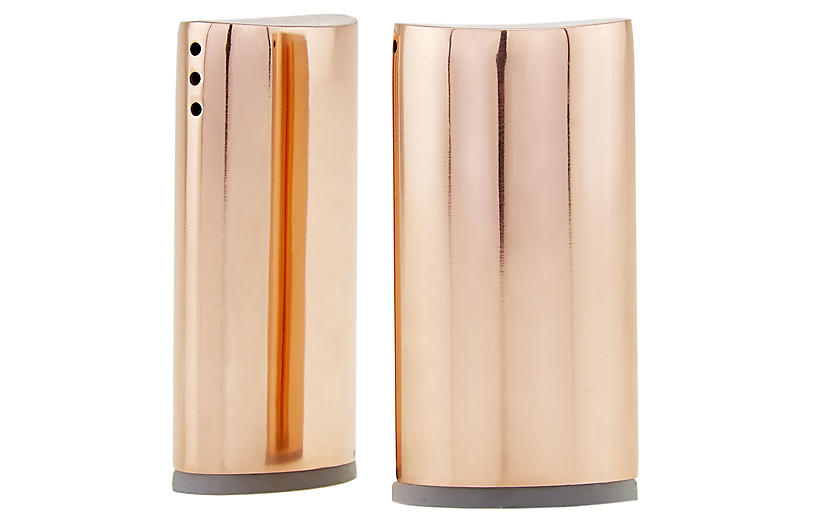S/2 Essex S & P Shakers, Copper