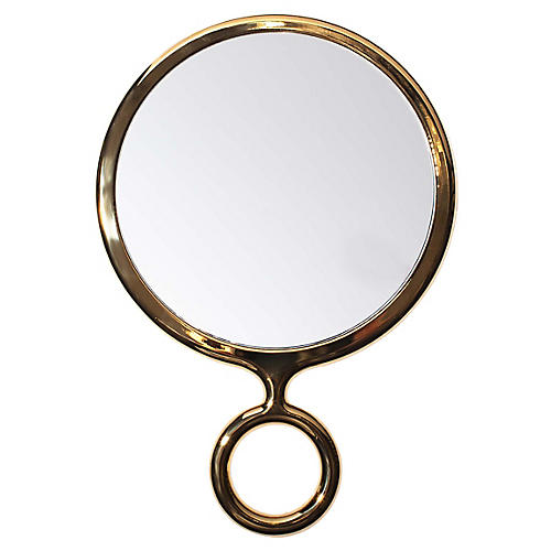 Jazzy Handheld Mirror, Gold