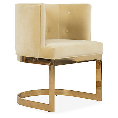 Pietro Armchair, Yellow Velvet