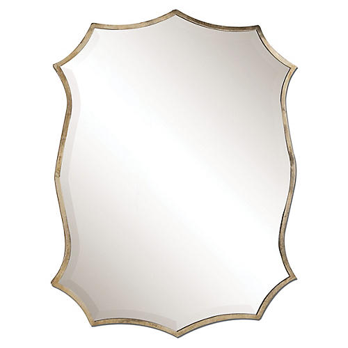 Marlow Wall Mirror, Nickel