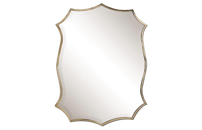 Marlow Wall Mirror, Nickel