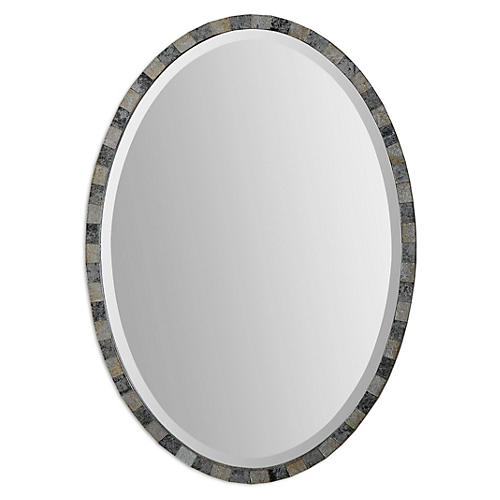 Agent Wall Mirror, Antiqued