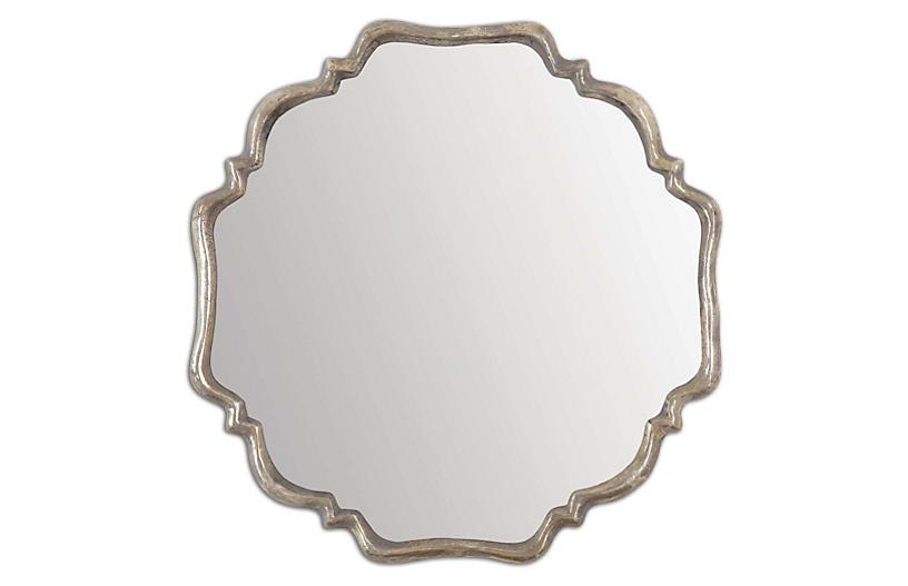 Cayla Wall Mirror, Gray