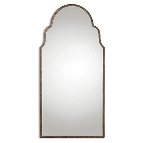 Briar Floor Mirror, Rust Bronze