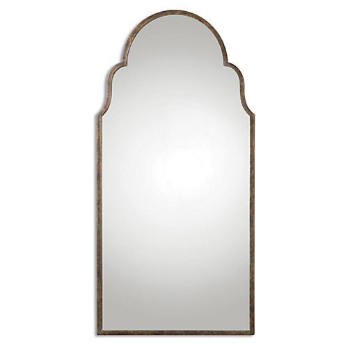 Briar Floor Mirror, Rust Bronze