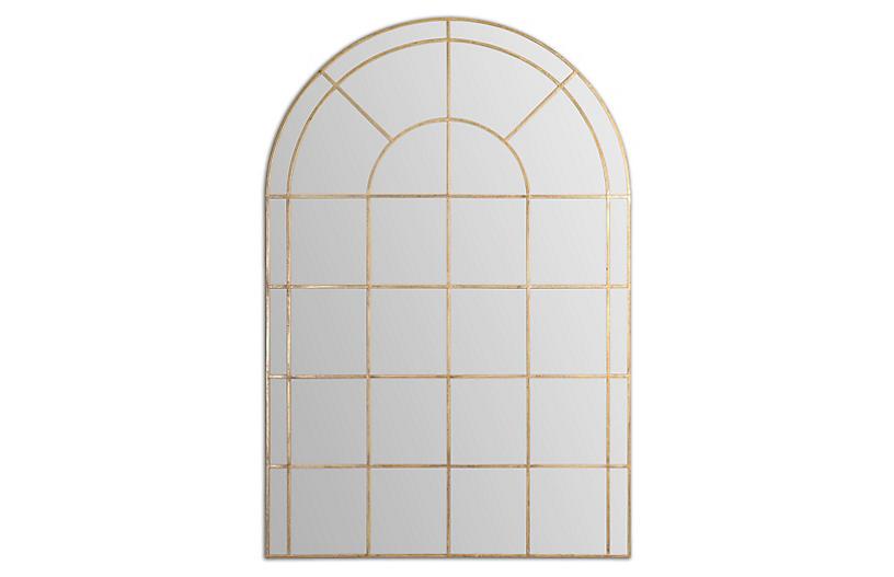 Monroe Floor Mirror, Gold