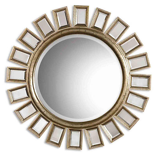 Cyrille Wall Mirror, Silver Leaf