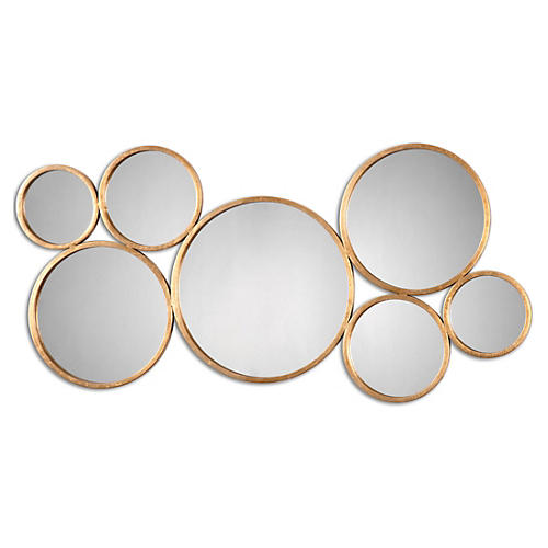 Roxanna Wall Mirror, Gold Leaf