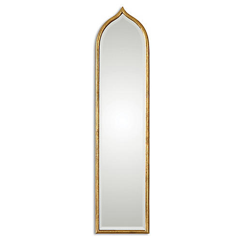 Fedala Oversize Wall Mirror, Gold Leaf