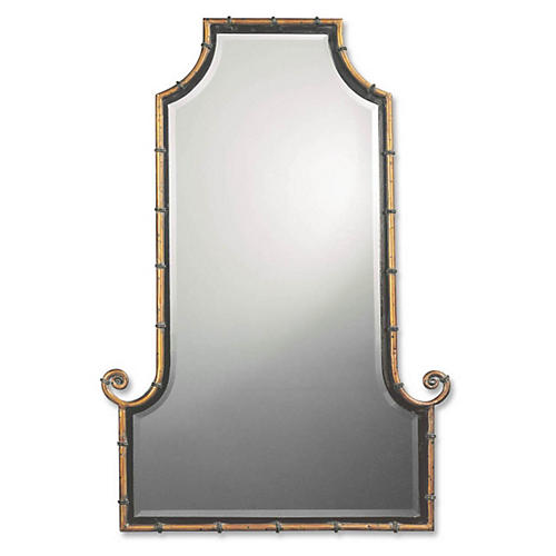 Rickie Wall Mirror, Spotted Gold