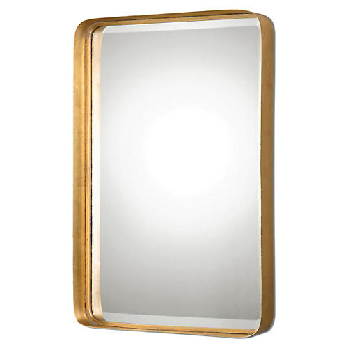 Chance Wall Mirror, Gold Leaf